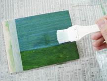 ポアーステイン+水性ニス|塗り方手順3