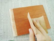 ウレタン着色ニス(水性)|塗り方手順2