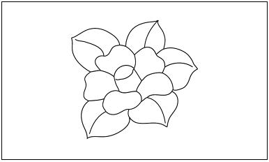 木彫図案集|つばき-01|サンプル