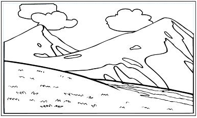 木彫図案集|山-01|サンプル
