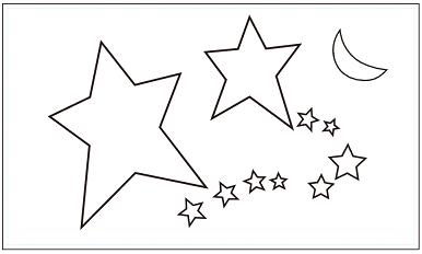 木彫図案集|星-01|サンプル