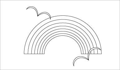 木彫図案集|虹-01|サンプル