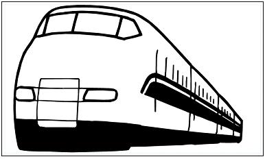 木彫図案集|新幹線-01|サンプル