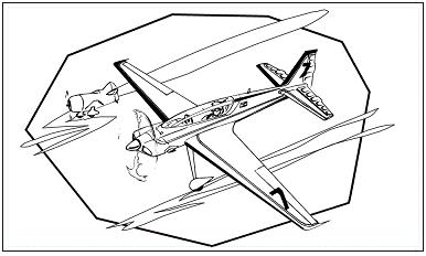 木彫図案集|飛行機-01|サンプル