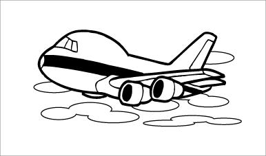 木彫図案集|飛行機-02|サンプル