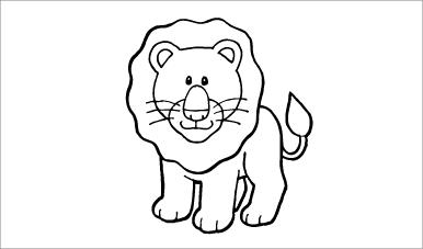 木彫図案集|ライオン-01|サンプル