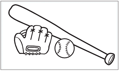 木彫図案集|野球-01|サンプル