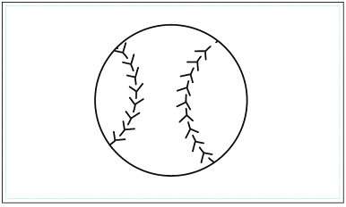 木彫図案集|野球-02|サンプル