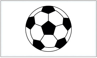 木彫図案集|サッカー-03|サンプル