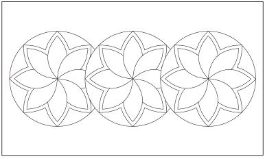 木彫図案集|天板|花模様-01|サンプル