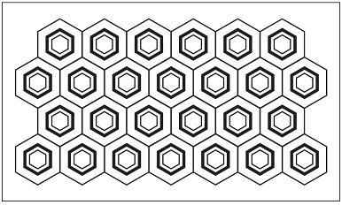 木彫図案集|天板|亀甲模様-01|サンプル
