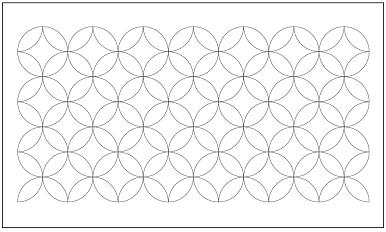 木彫図案集|天板|七宝模様-01|サンプル