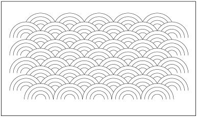 木彫図案集|天板|青海波模様-01|サンプル