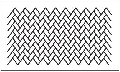 木彫図案集|天板|檜垣模様-01|サンプル