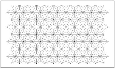 木彫図案集|天板|麻の葉模様-01|サンプル