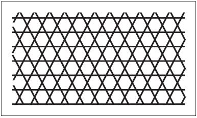 木彫図案集|天板|籠目模様-01|サンプル