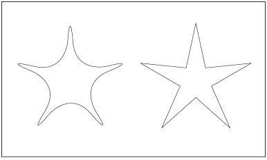 木彫図案集|天板|星-01|サンプル
