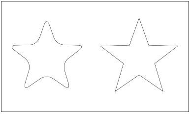 木彫図案集|天板|星-02|サンプル