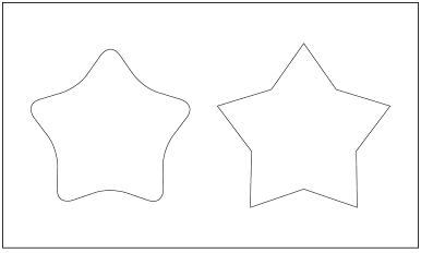 木彫図案集|天板|星-03|サンプル