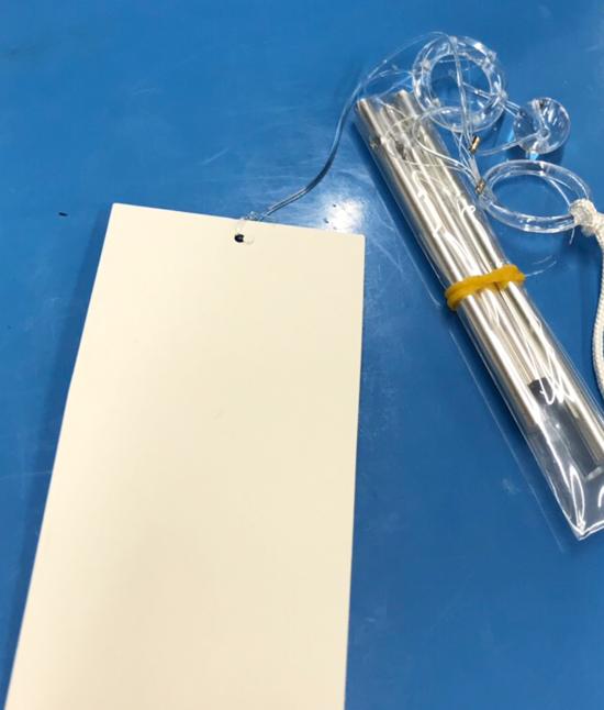 紙粘土と芯材を使ったふうりんの作り方|短冊を作る