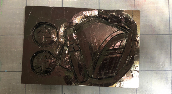 「らくらくボード」×「メタル箔」|作り方その3